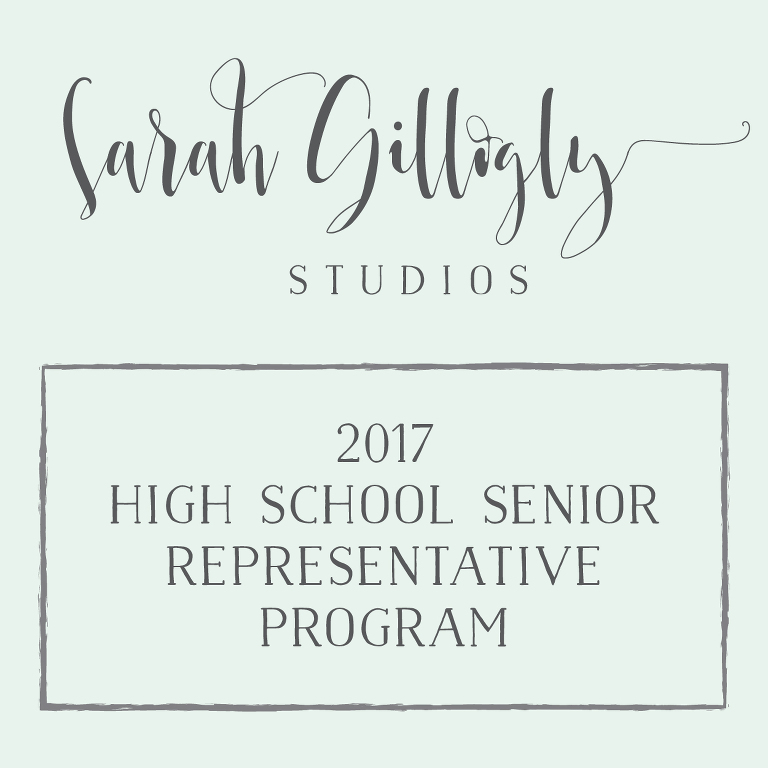 Sarah Gillogly Studios High School Senior Portrait Representative Program